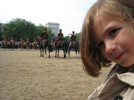 Horse guards with kids