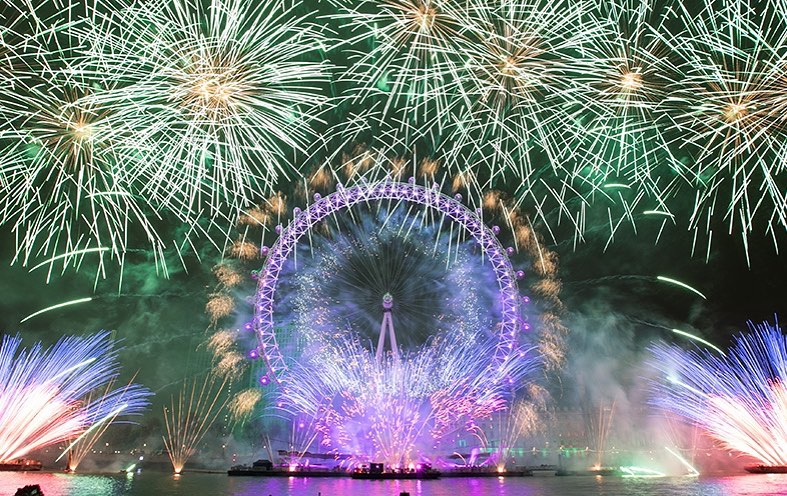 Feu d'artifice Londres