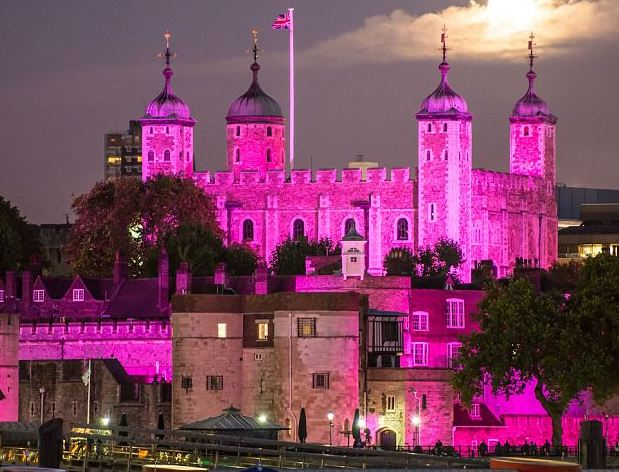Tower of  London in Pink