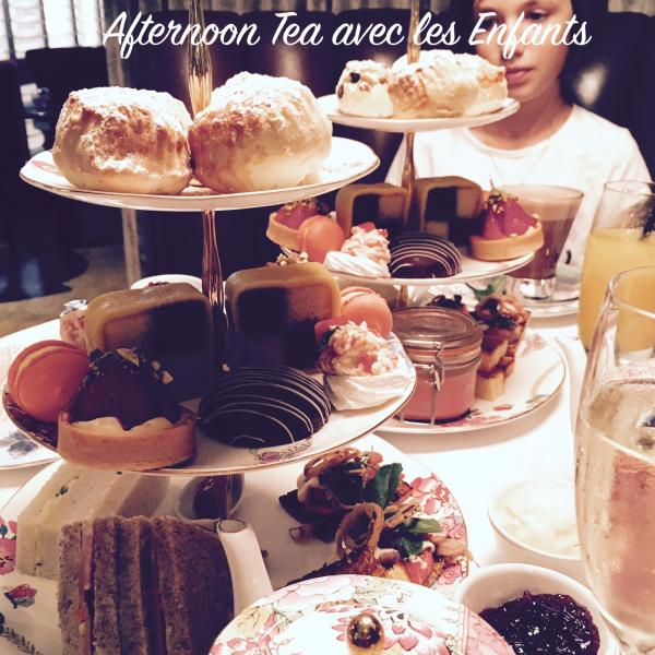 Afternoon Tea avec les kids!
