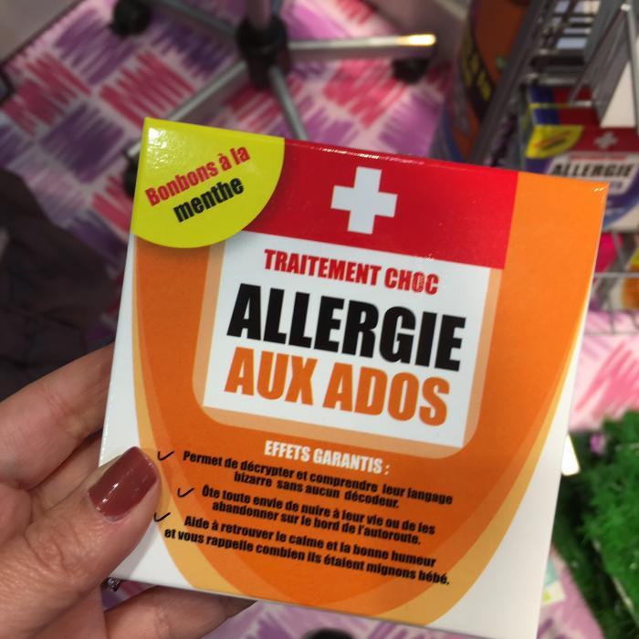 allergie aux ados