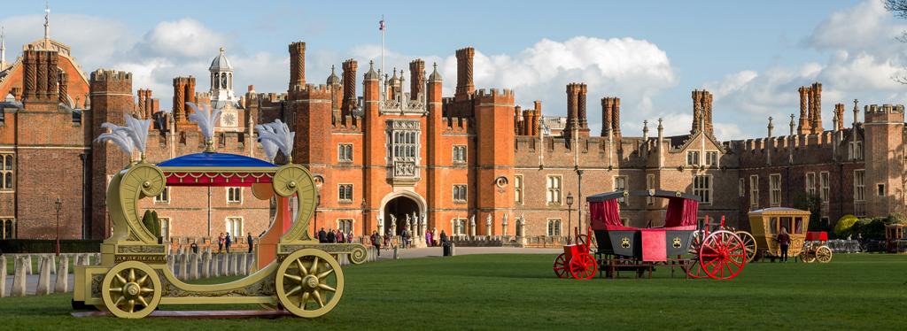Hampton court palace carriages darker 1024x374 2