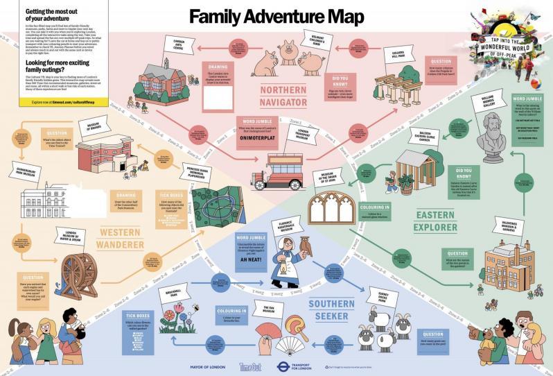 Le Family Adventure Map de Time Out London
