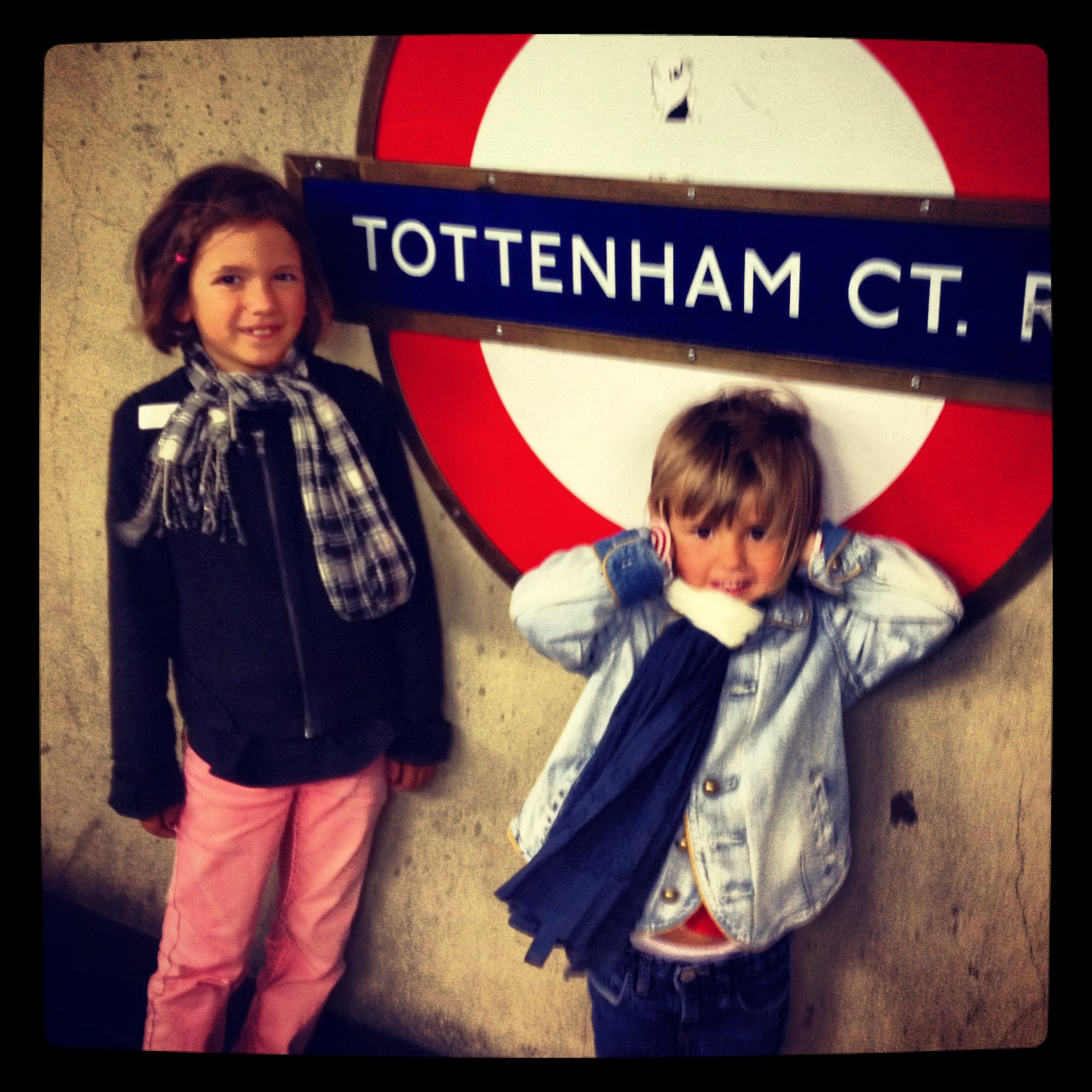 London transport with kids