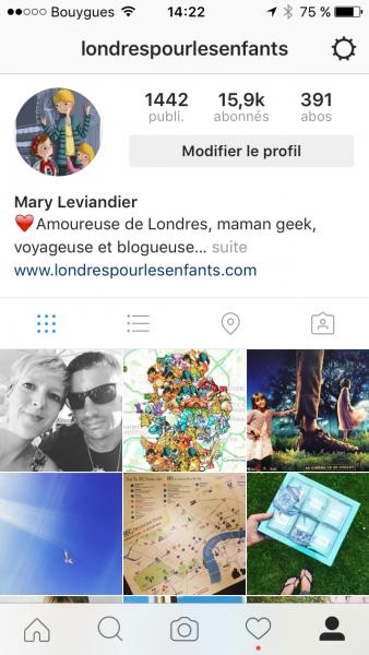 Instagram Londres Pour Les Enfants