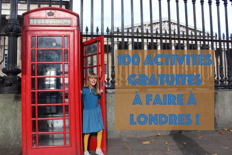 100 activités gratuites à faire à Londres !