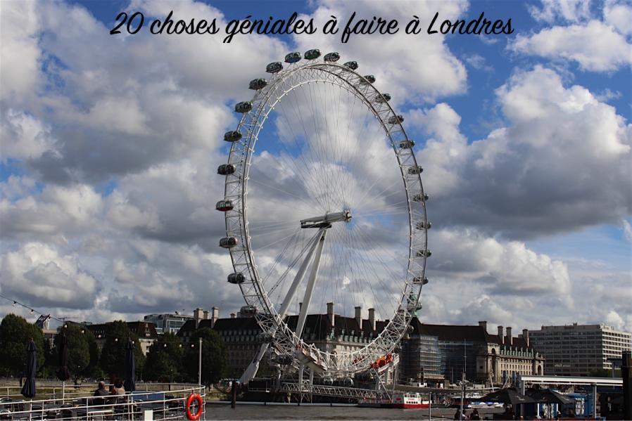 20 choses géniales à faire à Londres