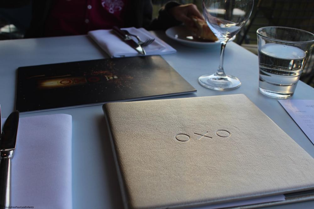 OXO Tower Menu