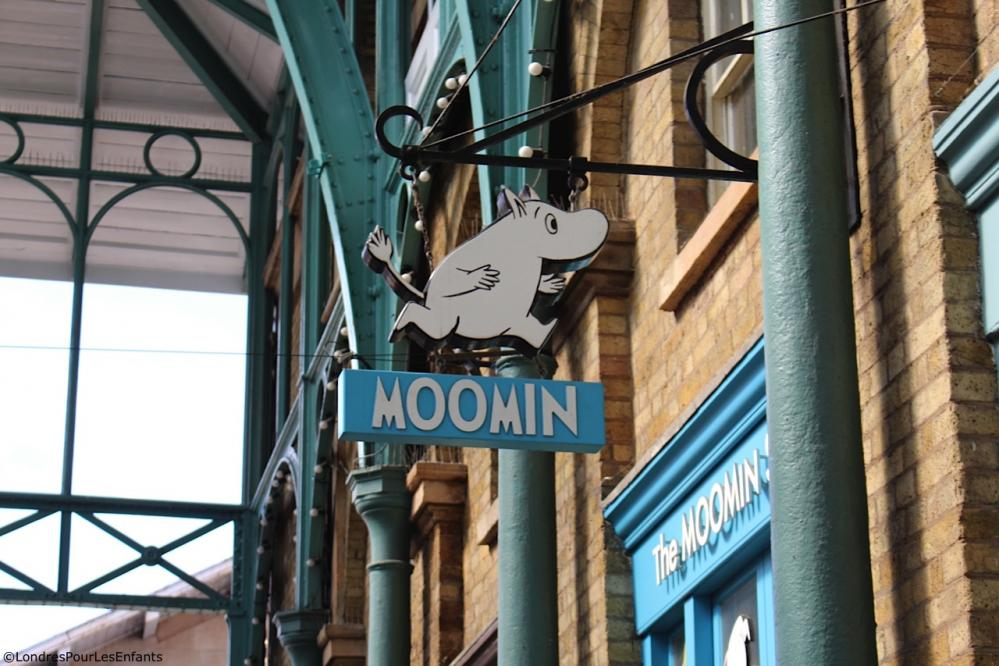 Boutique Moomin à Covent Garden