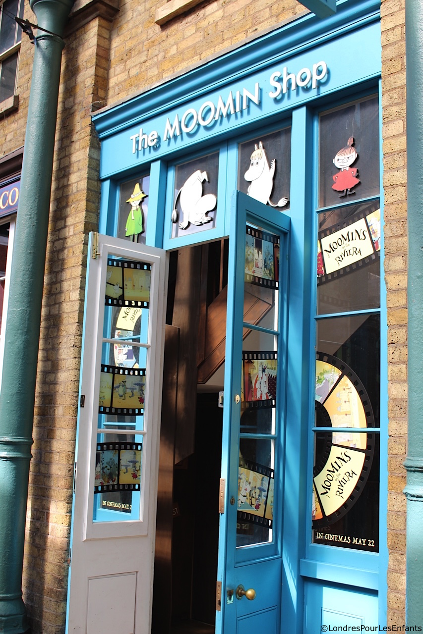 La boutique des Moomins à Covent Garden