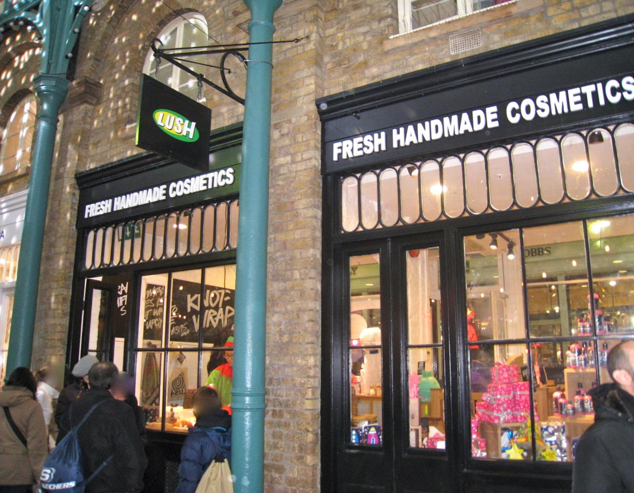 Je lush tu lushes nous lushons covent garden - Covent garden magasin ...