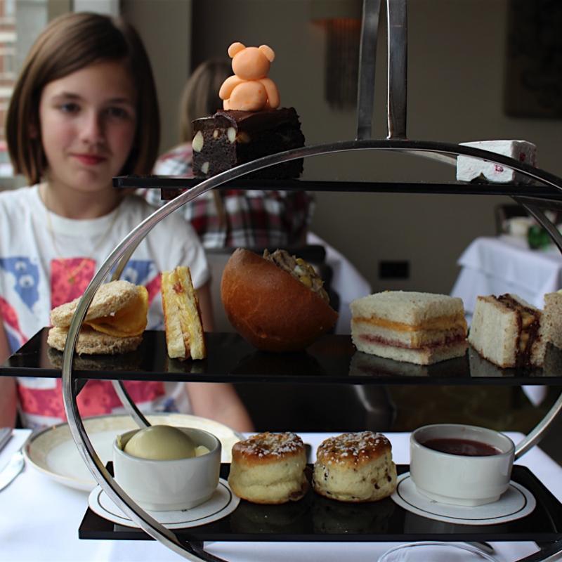 Afternoon tea at Royal Garden Hotel