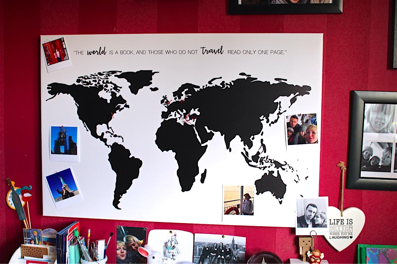 Carte du Monde BonjourToile
