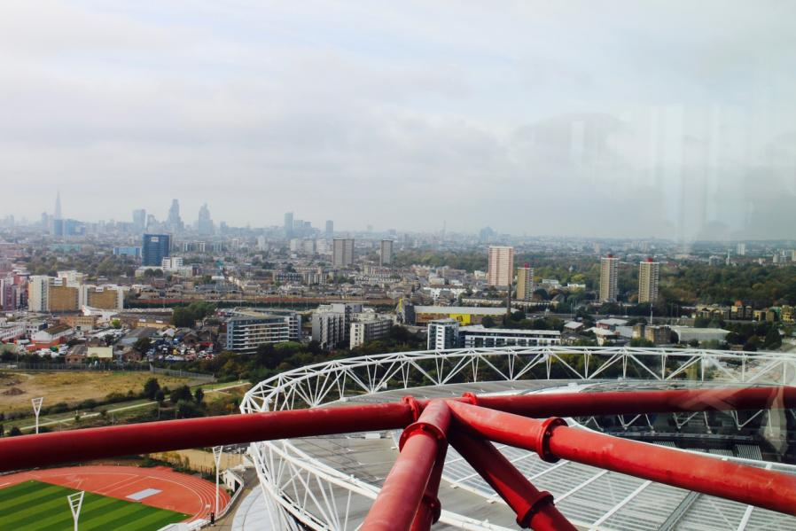 Londres là-haut : Arcelor Mittal Orbit (and the slide)