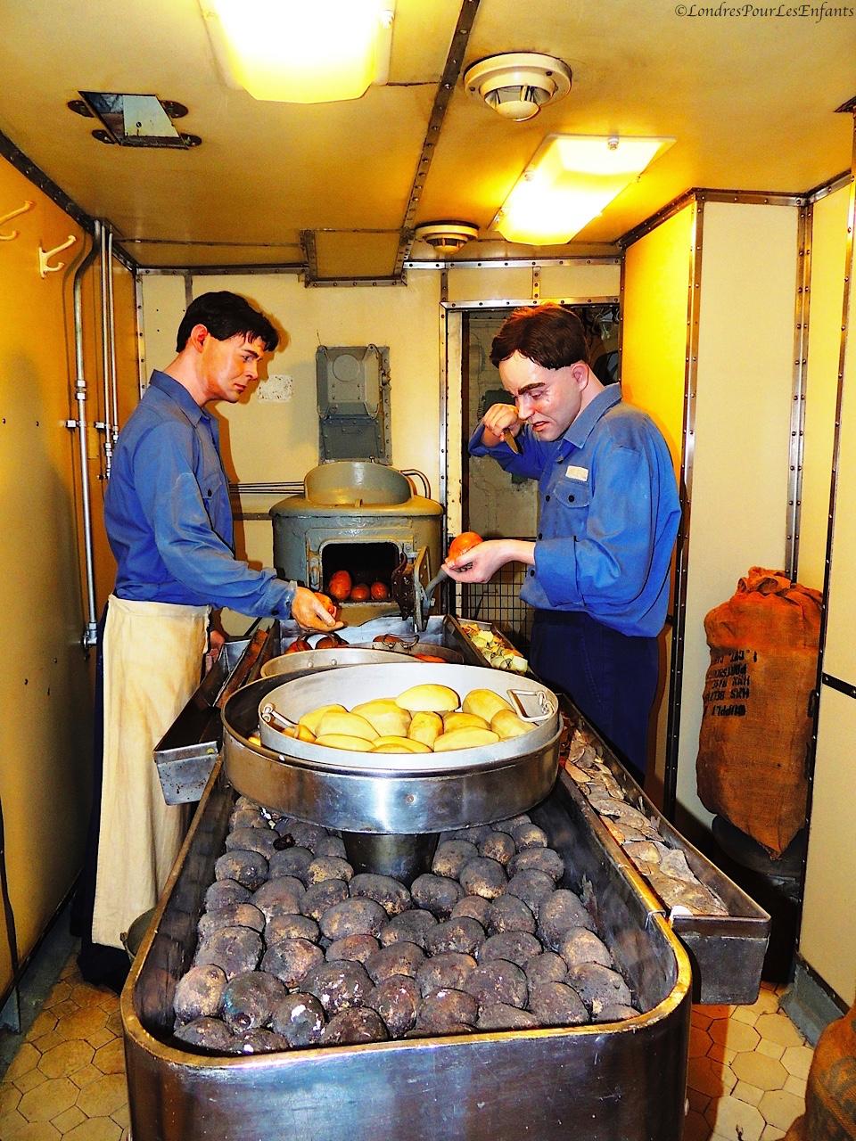 HMS Belfast : les cuisines