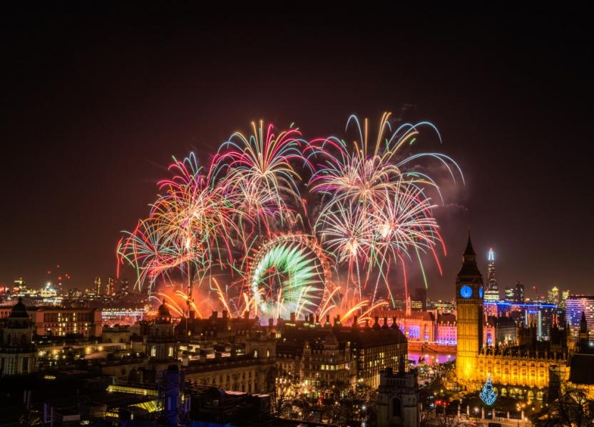 Feux d'artifice Londres