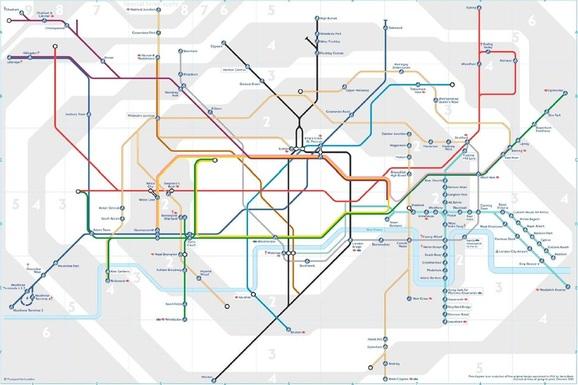 Plan metro pour les poussettes à Londres